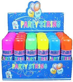 Blue Box Party String - not Silly String - 48 Cans ()