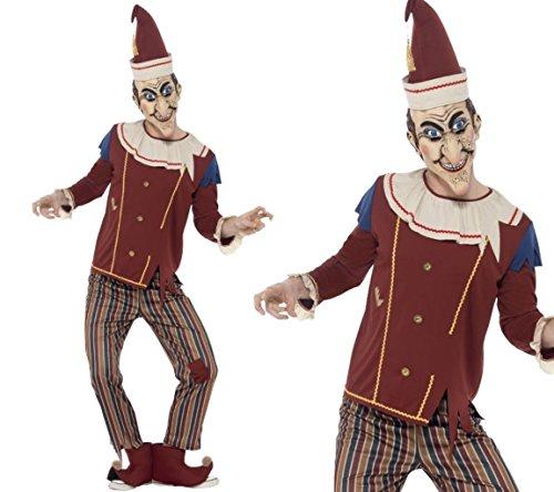Smiffy's Men's Possessed Punch Costume, Top, pants, Hat, ...