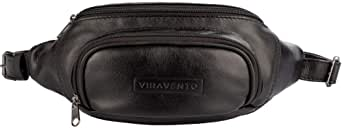 Pochete masculina de couro legítimo Igor preta: Amazon.com
