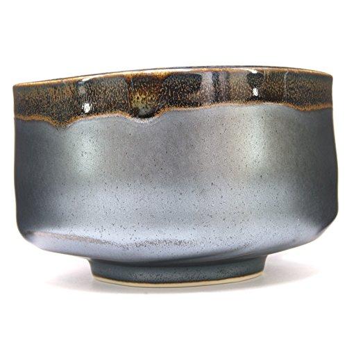 Japanese Handcrafted Matcha Tea Bowl Black, Matcha Tea Cup Ceremony, Authentic Mino Ware Pottery, Kuro Oribe Chawan by Mino Ware (Image #6)