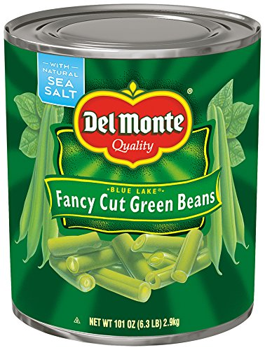 - Del Monte Canned Blue Lake Fancy Cut Green Beans, 101 Ounce (Pack of 6)