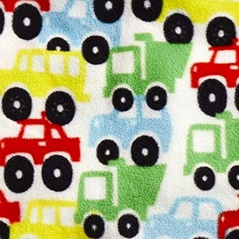 Flannel Baby Blanket Colorful Cars Trucks Buses