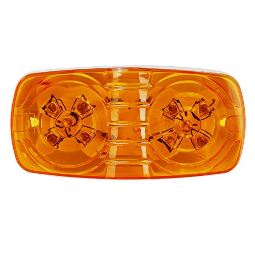 partsam-10x-double-bubble-bullseye-side-marker-light-10led-bulls-tiger-eye-amber-trailer