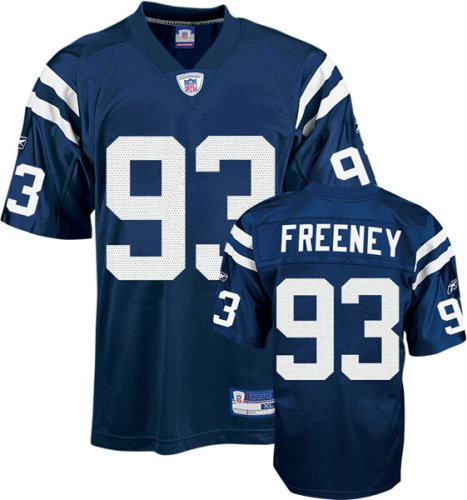 Dwight Freeney Indianapolis Colts Blue NFL Replica Jersey - - Colts Football Replica Reebok Indianapolis