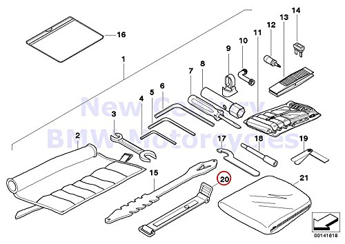 BMW Genuine Motorcycle Battery Tray Car Tool Tension Strap R1200C R1200 Montauk R1200C Independent R1200CL - Used Bmw Motor