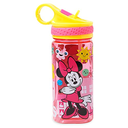 Disney Minnie Mouse Water Bottle with Built-In Straw