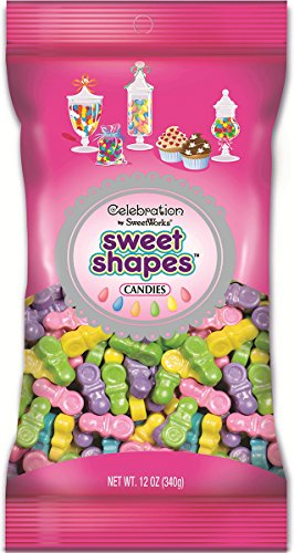 Sweetworks Celebrations Shapes Shimmer Pacifiers product image