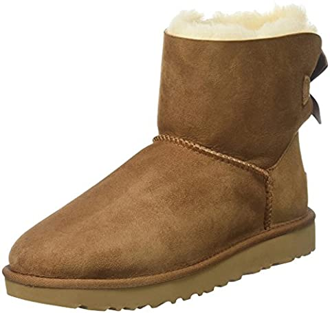 UGG Women's Mini Bailey Bow II Winter Boot, Chestnut, 7 US/7 B US - Faux Ugg Boots