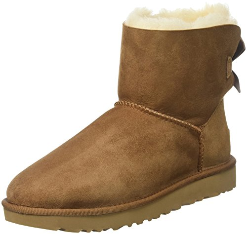 UGG Women's Mini Bailey Bow II Winter Boot, Chestnut, 8 US/8 B US