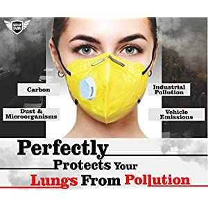 Urbangabru N99 Anti Pollution Mask with 4 layer protective filters PM 2.5 system (valve color may vary)