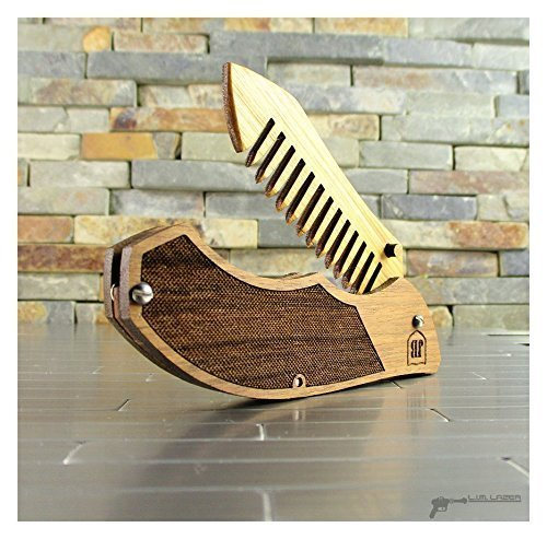 Amazon com: Tactical Knife, Folding Beard Comb, Wood and Acrylic