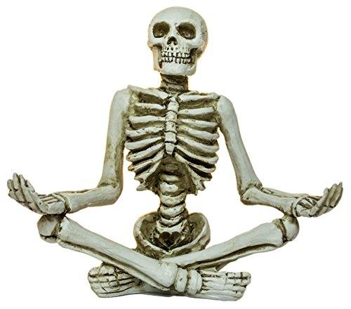 Ganz Zen Skeleton Figurines in Various Meditation Poses (Meditation C)