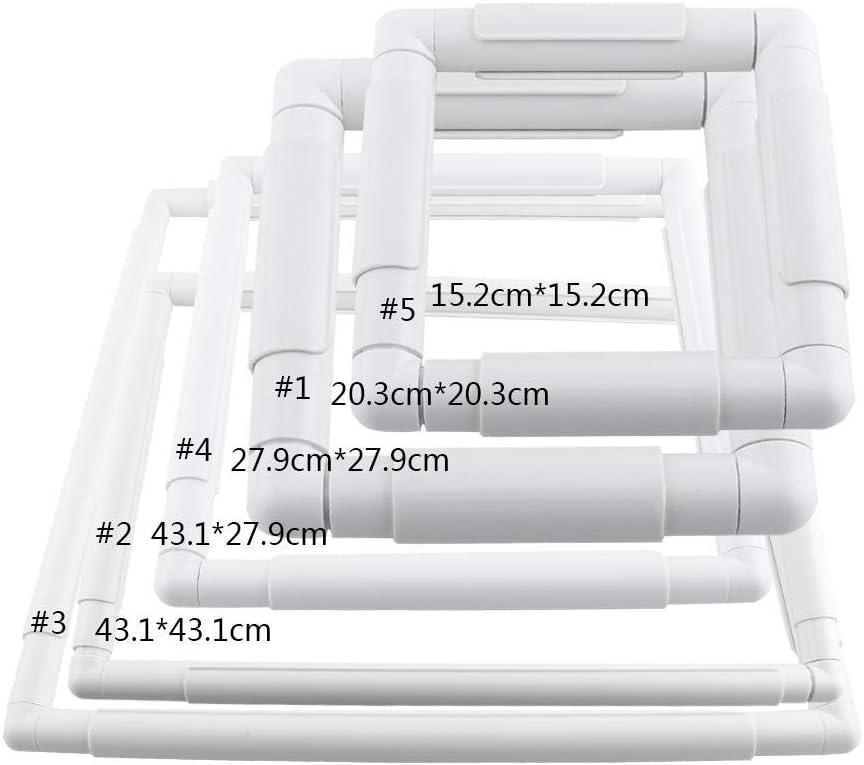telaio da cucito in plastica rettangolare per cucitura di cucito per trapuntatura a punto croce cucito fai-da-te Telaio da ricamo quadrato 20.3 * 20.3cm