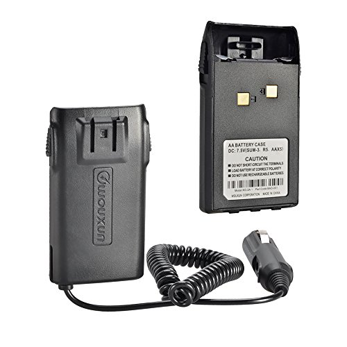 Wouxun AA Battery Case and Car Battery Eliminator for KG-UV6