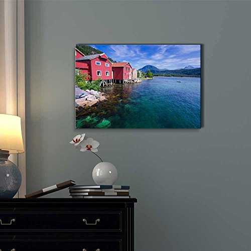 Beautiful Norwegian Landscape Scenery in Summer Season Wall Decor