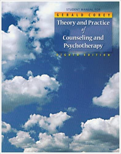 Student Manual for Theory and Practice of Counseling and Psychotherapy (Workbook) by Gerald Corey (2008-01-10)