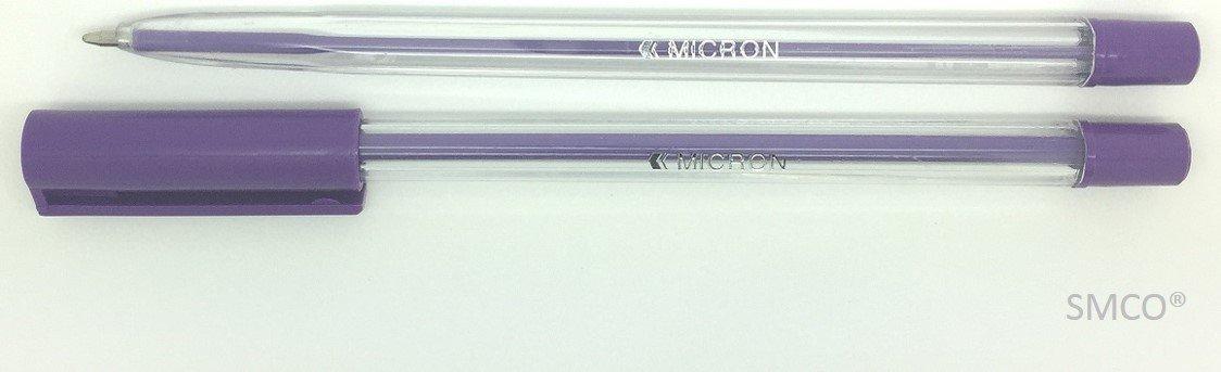 5 PINK Medium Tip Micron Ballpoint Pens with AIRFLOW CAP Vivid Bright Colour