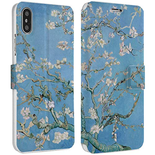 Wonder Wild Almond Blossoms iPhone Wallet Case X/Xs Xs Max Xr 7/8 Plus 6/6s Plus Card Holder Accessories Smart Flip Hard Design Protection Cover Van Gogh Famous Painting Art Museum Retro Floral New]()