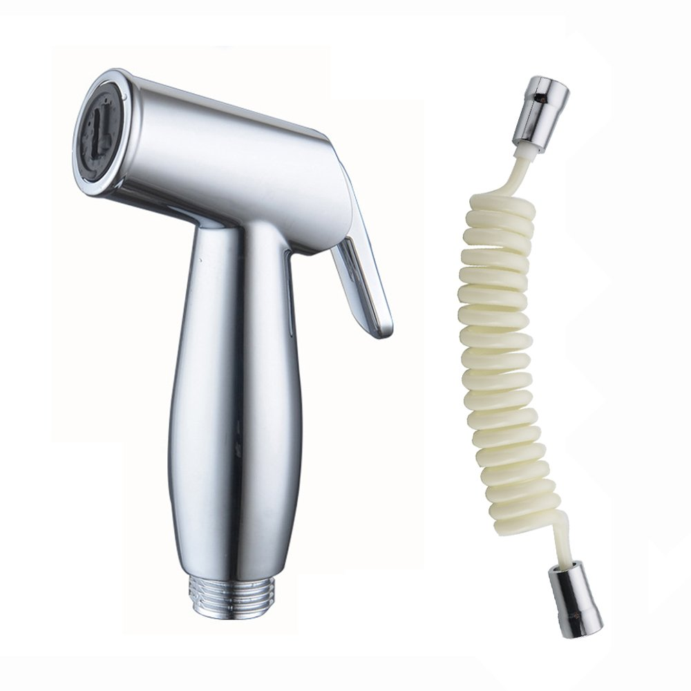 Toilet Sprayer, Hand Held Bidet Sprayer Shattaf Cloth Diaper Sprayer with Retractable Spring Hose for Toilet Attachment