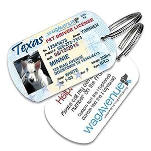 Amazon.com : Texas Driver's License Id Tag - Durable ...