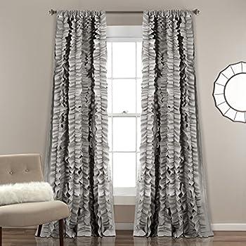 Amazon Com Lush Decor D 233 Cor Belle Single Window Curtain