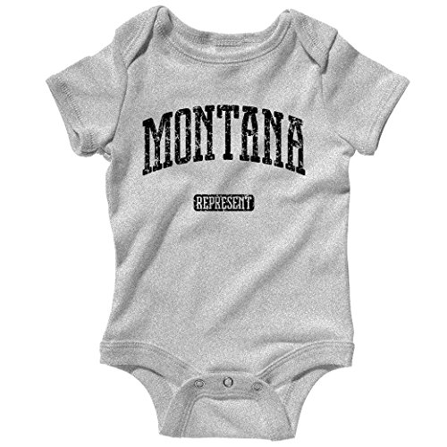 Smash Transit Baby Montana Represent Creeper - Heather Gray, 12M