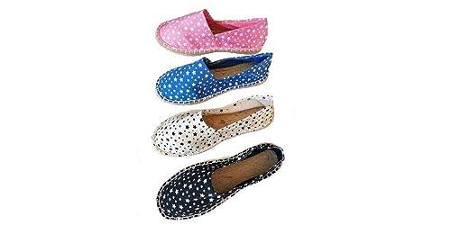 d6819c9a20a Alpargatas Boda Estampadas Estrellas Caja 36 Pares Mujer: Amazon.es:  Zapatos y complementos