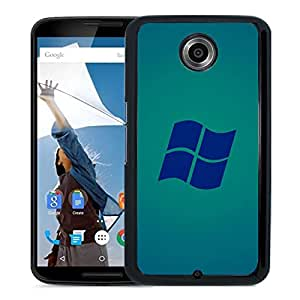 New Beautiful Custom Designed Cover Case For Google Nexus 6 With Microsoft Windows Blue Logo Phone Case