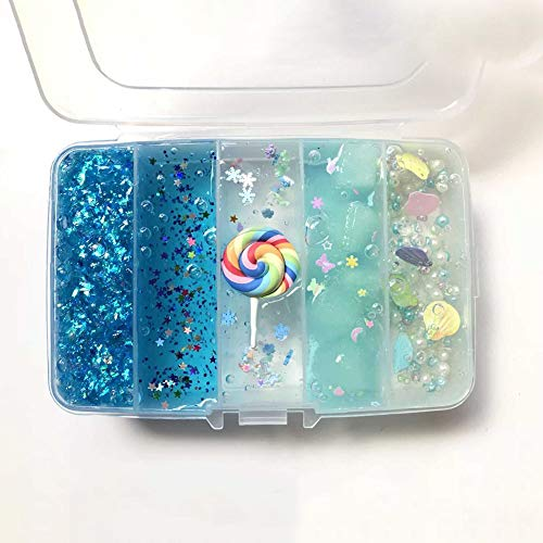 Ocamo DIY Fun Colorful Modeling Clay Box Kit Slime Supplies Light Plasticine Blue for Hallows All Saints' Day