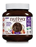 Nutiva Certified Organic, non-GMO, Vegan Hazelnut Spread with Cocoa, Chia and Flaxseed, Dark Chocolate, 13 Ounces