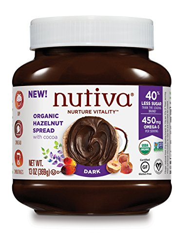 Nutiva Organic Hazelnut Spread with Cocoa, Dark, 13 Ounce