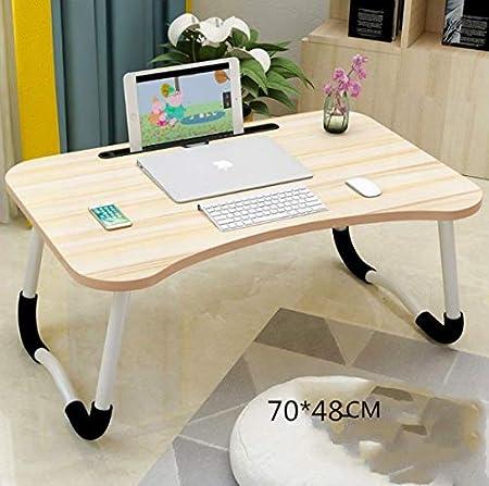 Multifunzionale Tavolino Porta PC Computer Supporto PC Portatile e Notebook Regolabile in Altezza e Inclinazione 70 48 Madera