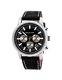 Michael Kors Men's Scout MK8310 Black Leather Quartz Watch