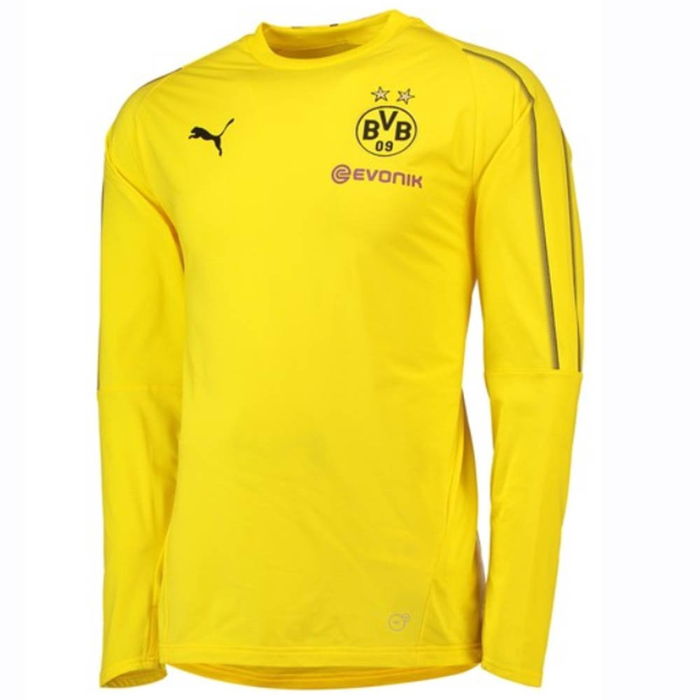 Puma 2018-2019 Borussia Dortmund Training Sweat Top (Yellow)