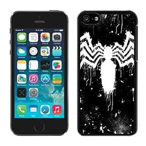 Unique And Antiskid Designed Cover Case For iPhone 5C With spider-man Black Phone Case