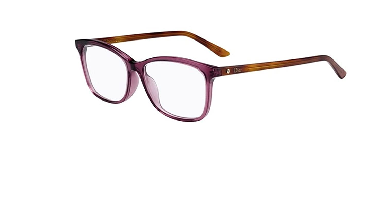 New Christian Dior Montaigne 55F 0YDC Burgundy Havana Eyeglasses