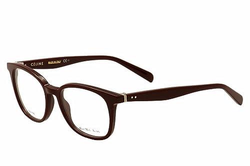 Amazon.com: Celine 41346 eyeglasses-0lhf Opal Borgoña -51 mm ...