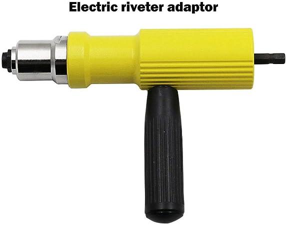 Rivet /électrique BE-TOOL Outil de rivetage Outil de rivetage Outil de per/çage Adaptateur Ecrou Pistolet /à main 2,4 mm-4,8 mm