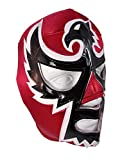 BLACK HAWK Adult Lucha Libre Wrestling Mask (pro-fit) Costume Wear - RED