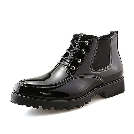 Apragaz Botines de Moda para Hombre Zapatos con Cordones ...
