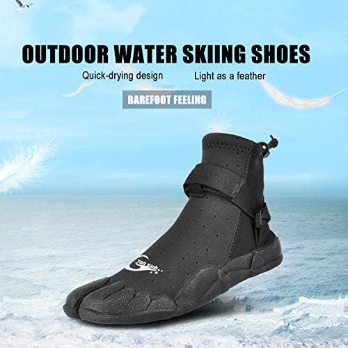 5mm Neoprene Anti-Slip Diving Boots Snorkeling Water Skiing Zipper Wetsuit Boots