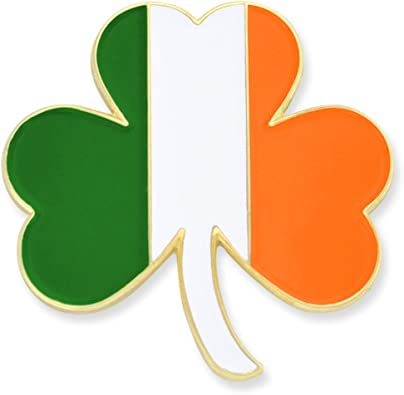 """Lot Of /""""4/"""" Irish Shamrock Lapel Pins Ireland /""""IRISH SHAMROCK/"""" Pin//Badge"""