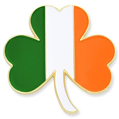 1fae4fa33e100 Amazon.com  PinMart Irish Flag Shamrock St. Patricks Day Enamel Lapel Pin   Jewelry