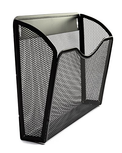Metal Mesh Lantern - Organizer Wall File Holder 3 Pack | Professional Quality Anti-Rust Metal Mesh | Hanging Wall Mounted Single Pocket Black | Essential For Home and Office Products and Supplies - By Lantern Lane