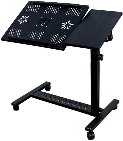 NewbieBoom JKL-Lapdesks Laptop con Ruedas con Ventilador para ...