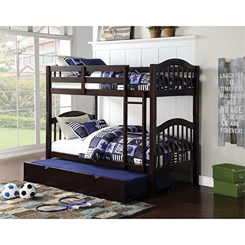 Bowery Hill Twin over Twin Bunk Bed in Espresso
