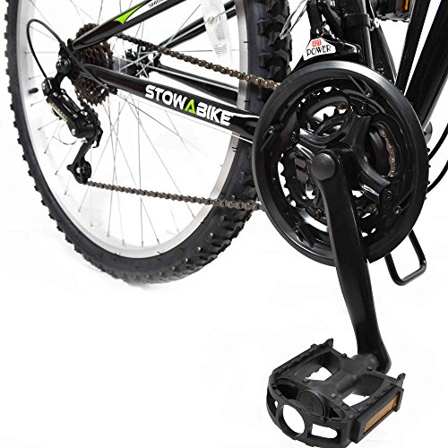 Stowabike 26'' MTB V2 Folding Dual Suspension 18 Speed Shimano Gears Mountain Bike Black by Stowabike (Image #3)