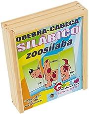 Quebra-Cabeça Silábico Zoosílaba Carlu Brinquedos