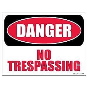 """Peligro no trespassing 18""""x 24"""" plástico corrugado Sign"""