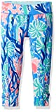 Lilly Pulitzer Girls' Little Melody Legging, Multi Jet Stream, L